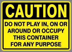 Large Caution Play Sticker