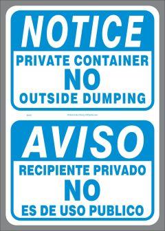 Bilingual Private Container Sticker(English/Spanish)