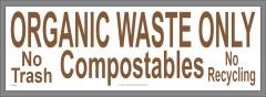 Organic Waste Only Sticker