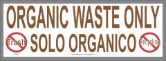 Bilingual Organic Waste Only Sticker