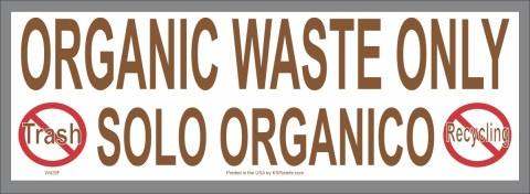 Bilingual Organic Waste Only Sticker