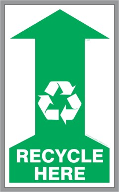 Recycle Above Here Sticker