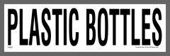 Plastic Bottles Recycling Sticker