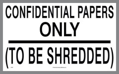 Confidential Papers decal