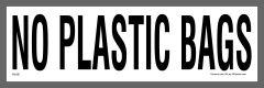 No Plastic Bags Sticker