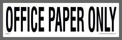 Office Paper Recycling Stickers