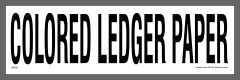 Colored Ledger Paper Recycling Sticker