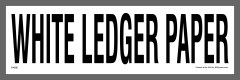 White Ledger Paper Recycling Sticker