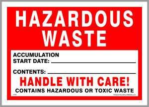 KSP Prints hazardous waste labels