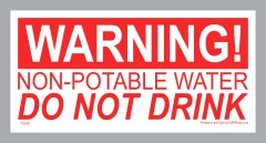 Do Not Drink Stickers - Non-Potable Water