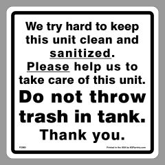 Clean Sanitized Signs