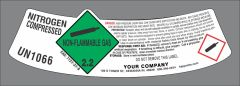UN1066 Nitrogen modified neck label