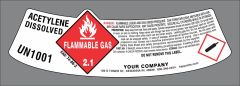 UN1001 Acetylene modified neck label