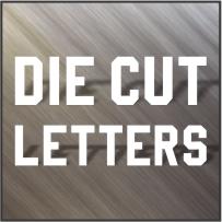 Vinyl Letters, 4 in, 6 in, 8 in