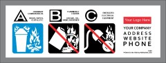 Class A Extinguisher Label