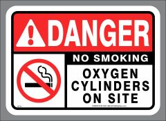 Oxygen Cylinders on site - no smoking