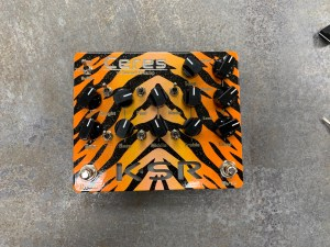Orange Burst Tiger Stripe Ceres with Black Knobs