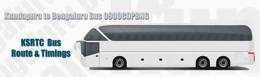 Kundapura to Bengaluru Bus 0900CDPBNG