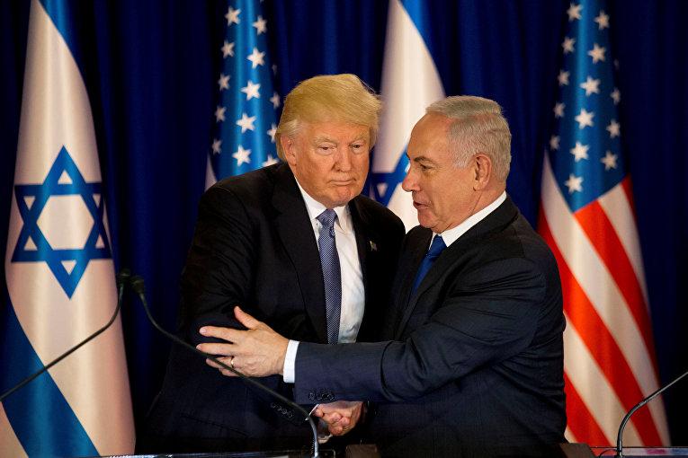 Дональд Трамп и Беньямин Нетаниягу (Credit: AP/Ariel Schalit)