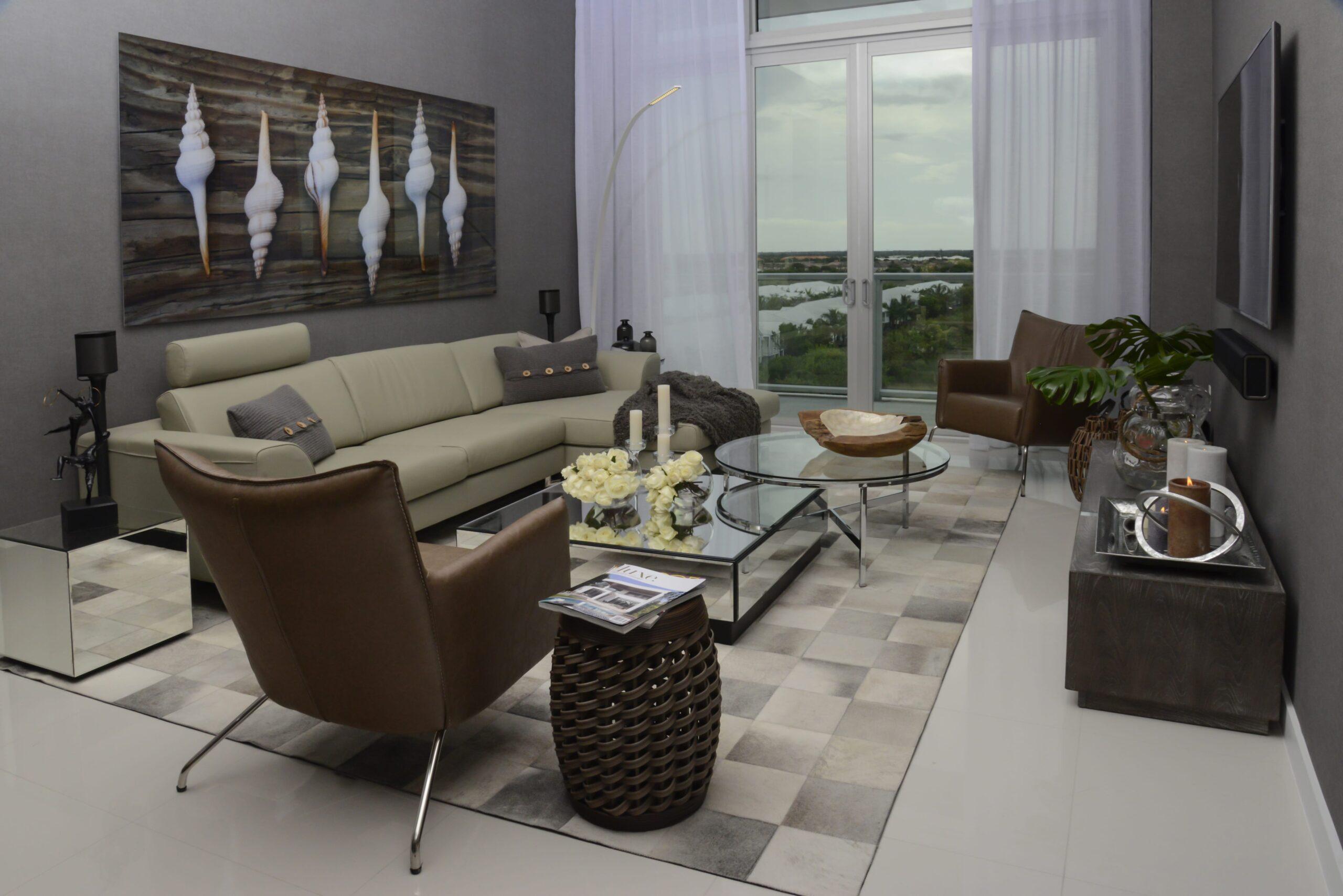 living area interior design by kstudio