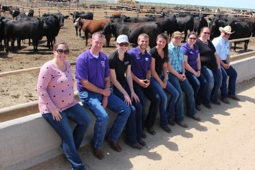 The group visits Cattle Empire LLC in Satanta.