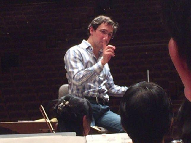 明後日の本番の指揮者、ロッセン・ゲルゴフさん