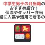 中学生男子の弁当箱のおすすめ紹介!保温やタッパー弁当・夏場に人気や活用できるのは?