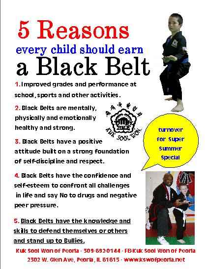 Five Reasons Every Child Should Earn A Black Belt