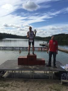 Brian Eriksen, blev bedste Team Kona Spirit atlet til Silkeborg Triathlon 2015.