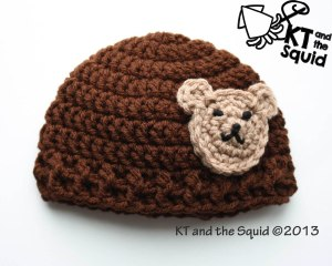 Bear Applique Hat