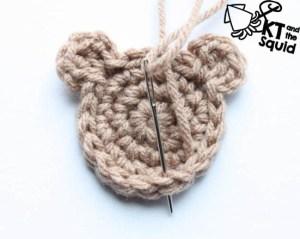 Free Bear applique hat crochet pattern