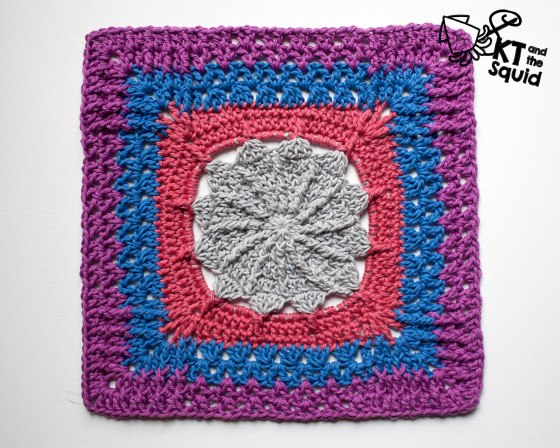 "12"" crochet square free pattern"