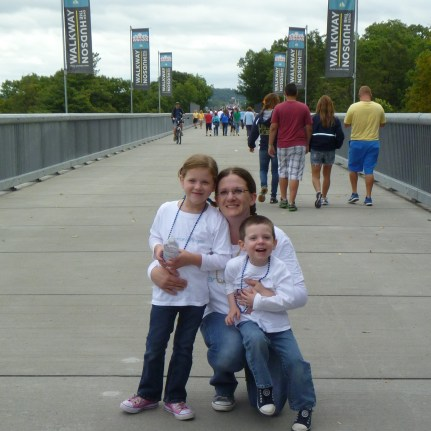 Alorah, Jacob, and I at the 2013 Ulster County Walk