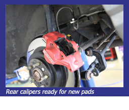 Rear calipers ready for new pads