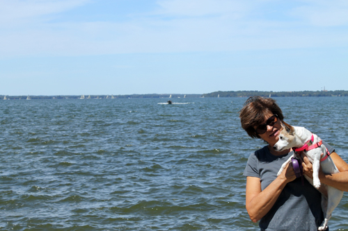 We spent some time at a park that was close enough to visit that had a beautiful lake with picturesque sail boats.