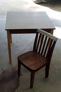 DIY Chalkboard Table and Chairs