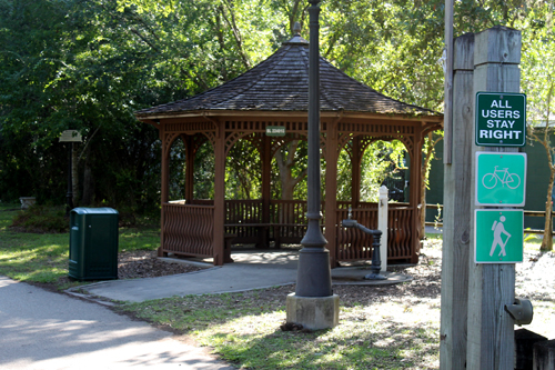 Gazebo on the Withlacoochee State Trail in Floral City