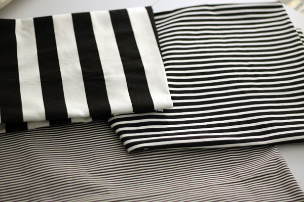 Striped Fabric for Piano Bench