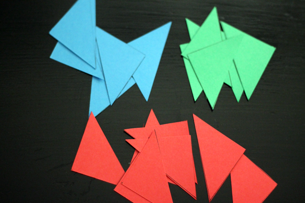 Triangles of cardstock