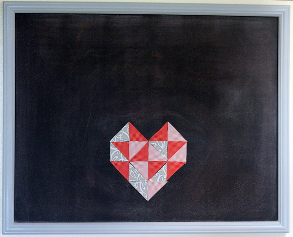 Heart on Magnetic Chalkboard