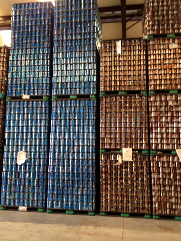 Stacks of beer