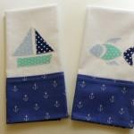 DIY Nautical Tea Towels