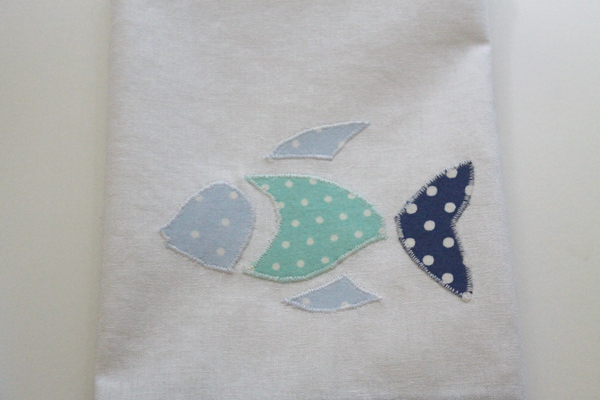 DIY Nautical Tea Towel