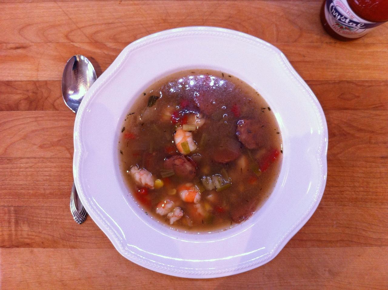Cajun Soup ; not quite gumbo