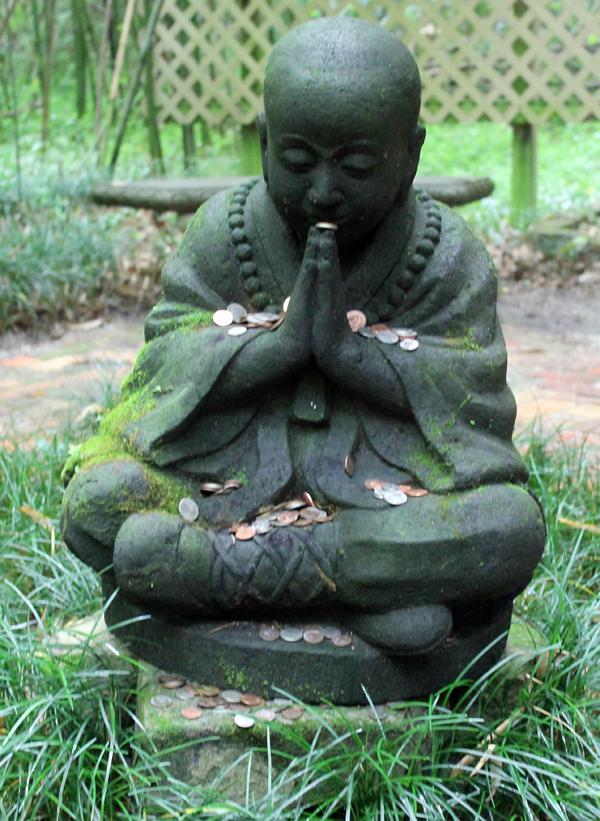 Budda in Bambo Garden