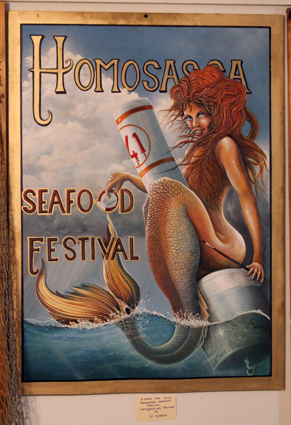 mermaid for t-shirt for the Homosassa Arts, Crafts and Seafood Festival