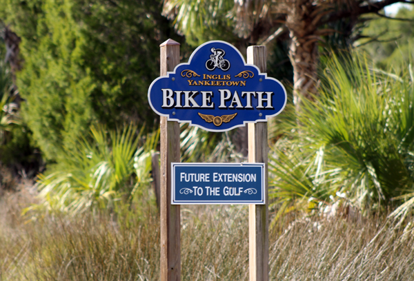 What!  They already have signs up for a bike path all the way to the Gulf!