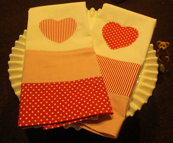 DIY Heart Tea Towels
