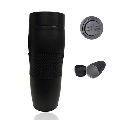 Black-Tumbler-with-Push-Button-Lid