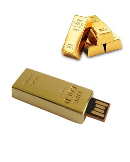 Gold Bar 2.0 USB Pen Drive